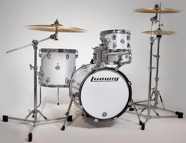 "Ludwig(ラディック)ブレイクビーツ ドラムセット LC179X028 BREAKBEATS OUTFIT WHITE SPARKLE AHIMIR ""?UESTLOVE"" THOMPSON 小口径"