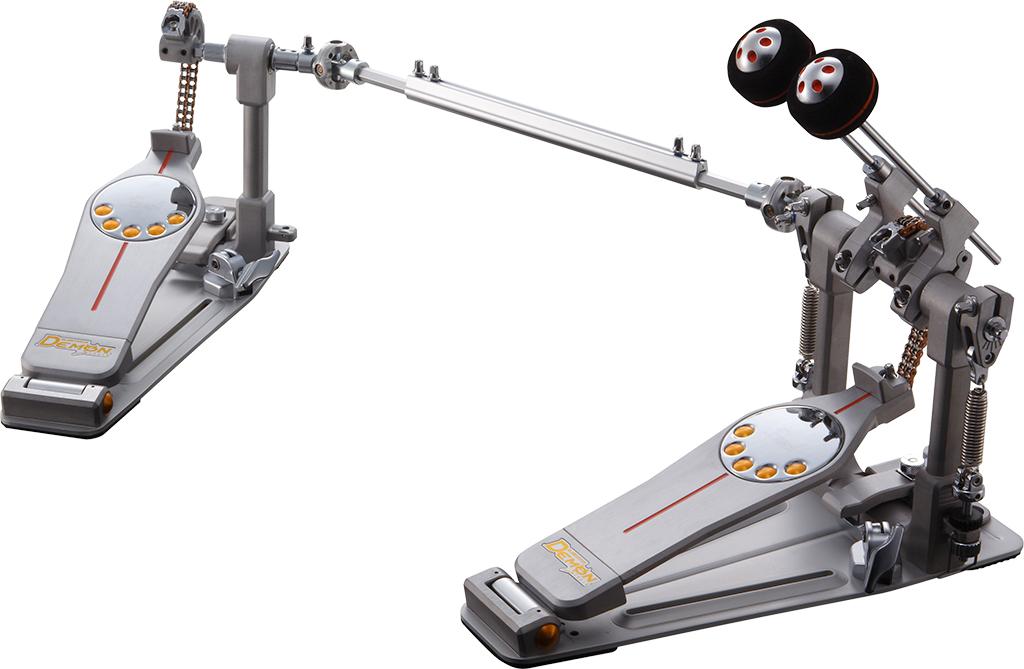 送料無料!! Pearl(パール)ツインペダル デーモンドライブ チェーンタイプ P-3002C【セミハードケース付】