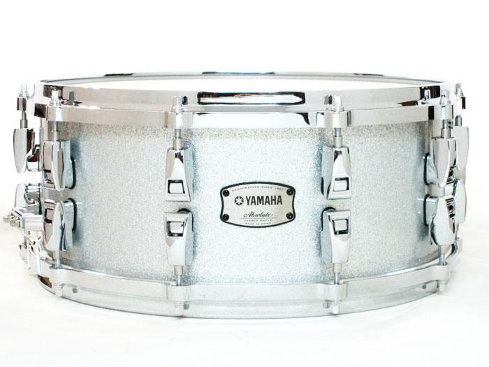 送料無料!! YAMAHA(ヤマハ)スネアドラム AMS1460 Absolute Hybrid Maple Silver Sparkle / ハイブリッドメイプル