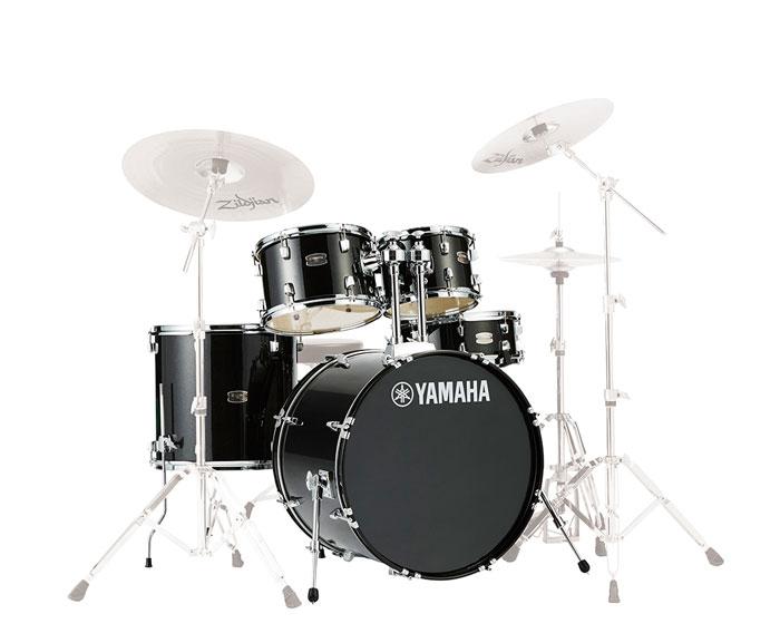 送料無料 YAMAHA ヤマハ 国際ブランド ドラムセット RDP0F5 絶品 ブラックグリッター RYDEEN ライディーン 20