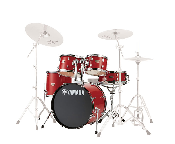 送料無料 YAMAHA ヤマハ ドラムセット RDP0F5 RYDEEN 春の新作 ホットレッド 代引き不可 ライディーン 20