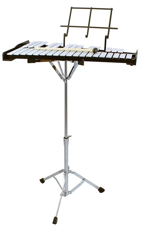 新製品 Pearl(パール)グロッケン・鉄琴 PK-900CB ケース、スタンド付き