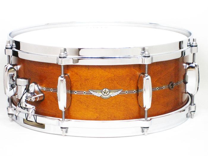 送料無料!! TAMA(タマ)スタースネアドラム TMS1455S SAG Star Maple Snare / Satin Amber Gold / お取り寄せ商品