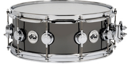 送料無料!! dw(ディーダブリュー)スネアドラム DW-BNB1455SD/BRASS/C Collector's Metal Snare / Black Nickel Over Brass