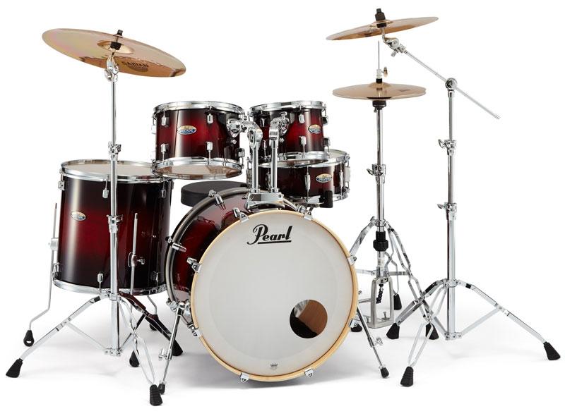 Pearl(パール)ドラムセット DMP925S/C-D Decade Maple Standard #261 Gloss Deep Red Burst シンバル別売 / ディケイドメイプル スタンダードサイズ