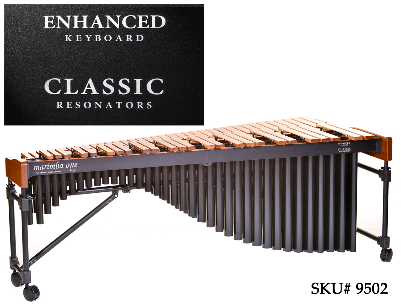 marimba one(マリンバワン)マリンバ IZZYシリーズEnhanced&Classic(5オクターブ) #9502 / 専用ケース付き【海外お取り寄せ商品】