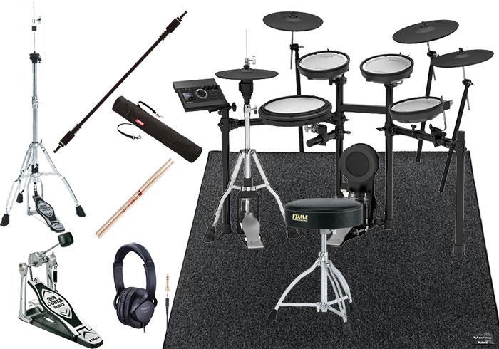 【キャッシュバックキャンペーン5,000円】Roland(ローランド)TD-17KVX-S V-Drums Kit / オリジナルオプション ハイハットスタンド、イス、シングルペダル、スティック、スティックケース、マット、ヘッドフォン、オーディオケーブル付き<電子ドラム・エレドラ>