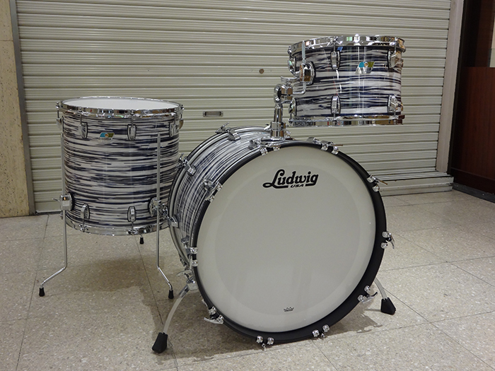 LUDWIG(ラディック)工場ツアー特注セット CLASSIC MAPLE INDIGO OYSTER 3点SET 22