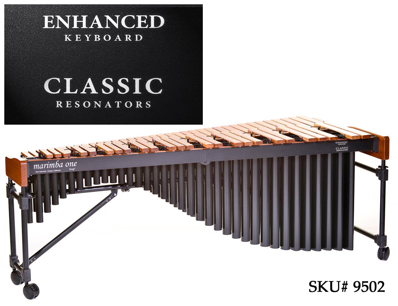 【店頭展示特価】marimba one(マリンバワン)コンサートマリンバ  IZZY シリーズ Enhanced&Classic(5オクターブ) #9502 セミハードケース付き