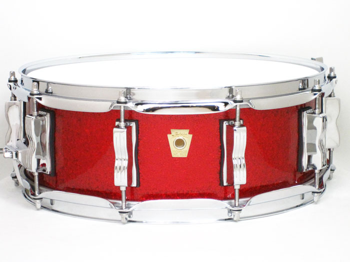 Ludwig(ラディック)LS401XX27 Classic Maple Series Red Sparkle / クラシック・メイプル スネアドラム<ソフトケース付き>