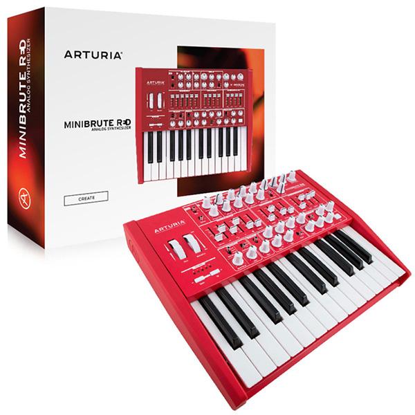 ARTURIA キーボード シンセサイザー MINIBRUTE レッド 25鍵