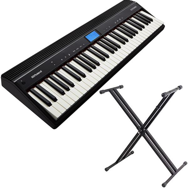 ROLAND ローランド 61鍵キーボード GO:PIANO GO-61P + スタンド セット 送料無料