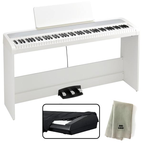 KORG コルグ 電子ピアノ B2SP ホワイト + ダストカバー + クリーニングクロス