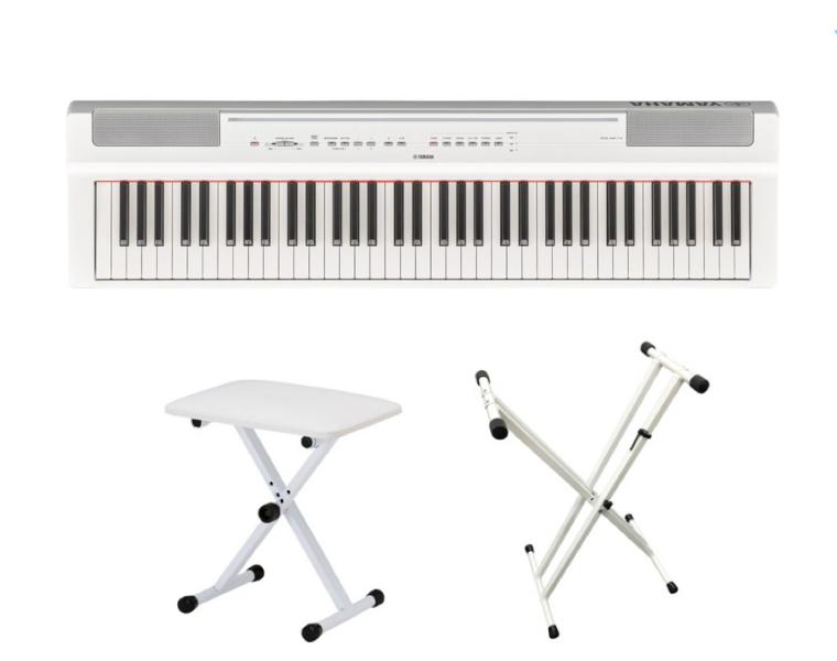 P-121WH X型スタンド・イスセット ヤマハ 73鍵盤 ハンマータッチ 電子ピアノ ブラック YAMAHA Pシリーズ 送料無料
