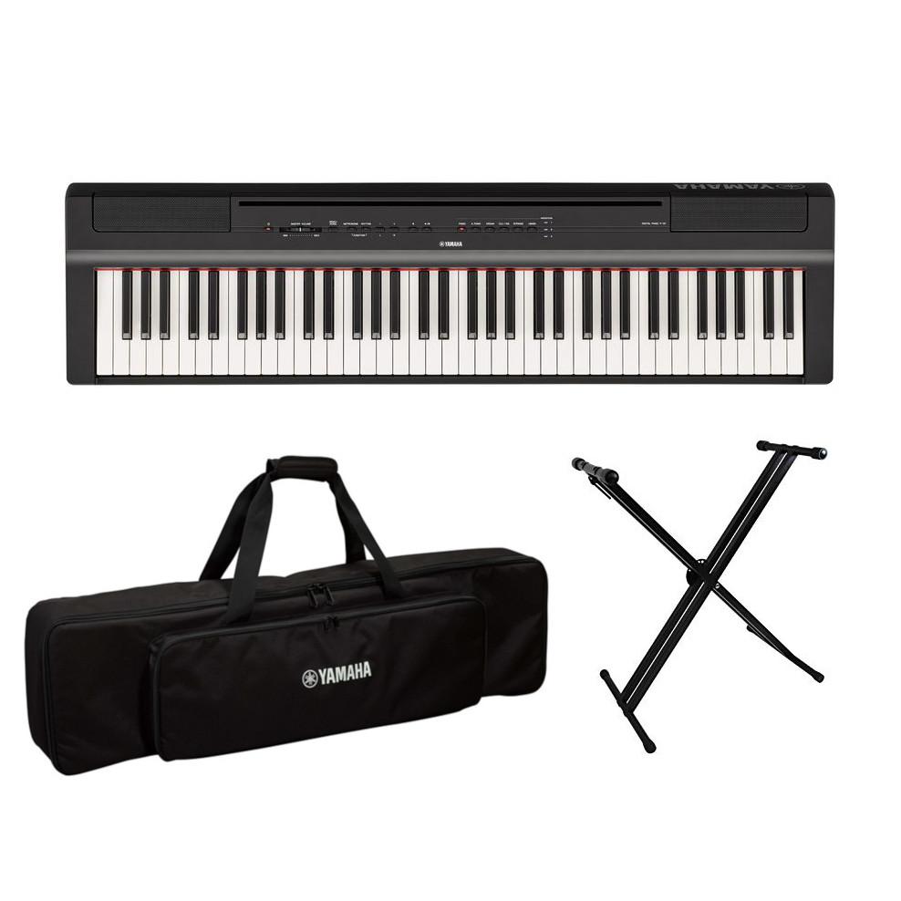 P-121B 専用ソフトケース・X型スタンドセット ヤマハ 73鍵盤 ハンマータッチ 電子ピアノ ブラック YAMAHA Pシリーズ 送料無料