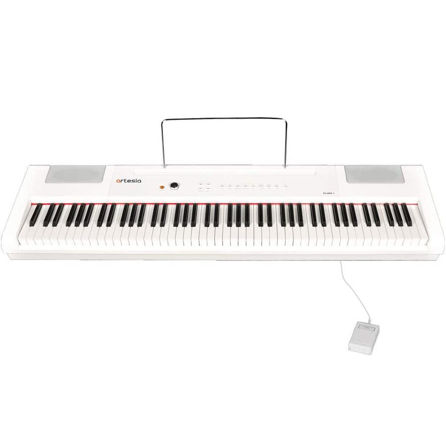Artesia 電子ピアノ 88鍵 PA-88H+/WH ホワイト ハンマーキー 電池駆動対応モデル (サスティンペダル付属)