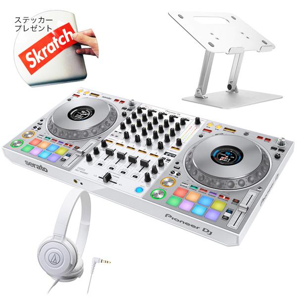 《初回限定 serato DJ Suite付き》Pioneer DJコントローラー DDJ-1000SRT-W + ヘッドホン + スタンド DJセット 送料無料
