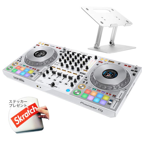 《初回限定 serato DJ Suite付き》Pioneer DJコントローラー DDJ-1000SRT-W + スタンド DJセット 送料無料