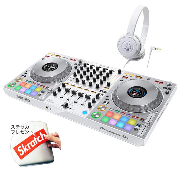 《カードポイント5倍キャンペーン(SPU分でポイントで最大7倍)》《初回限定 serato DJ Suite付き》Pioneer DJコントローラー DDJ-1000SRT-W + ヘッドホン DJセット 送料無料