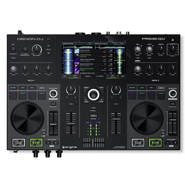 2デッキ スマートDJコンソール 安い 激安 プチプラ 高品質 国内送料無料 DENON DJ コントローラー リチウムイオン電池内蔵 GO 7インチスクリーン搭載 PRIME