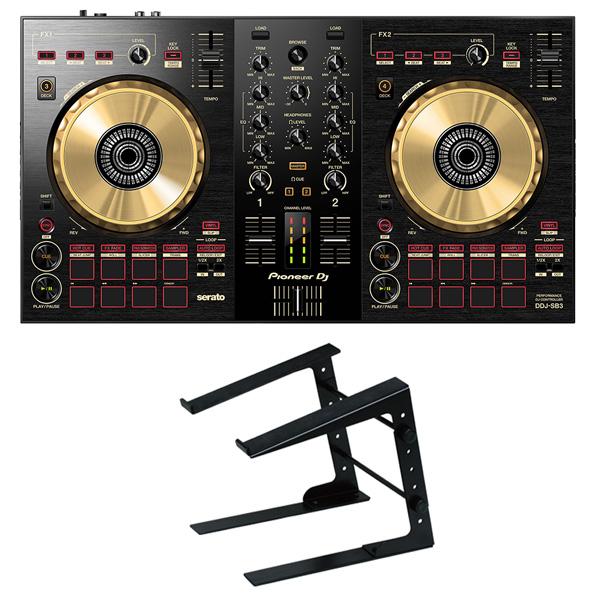 Pioneer DJ DJコントローラー DDJ-SB3-N + ラップトップPCスタンド セット 送料無料