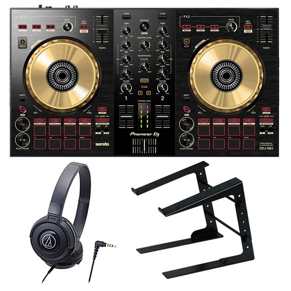 Pioneer DJ DJコントローラー DDJ-SB3-N + ヘッドホン + PCスタンド セット 送料無料