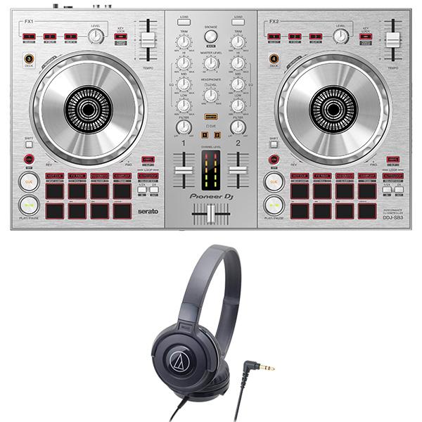 PIONEER DJコントローラー DDJ-SB3-S + ヘッドホン セット Serato DJ Lite対応