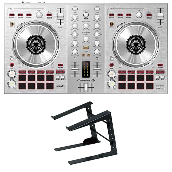 PIONEER DJコントローラー DDJ-SB3-S + PCスタンド セット Serato DJ Lite対応