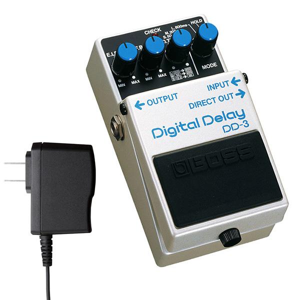 BOSS ボス Digital Delay DD-3 コンパクトエフェクター + アダプター セット 送料無料