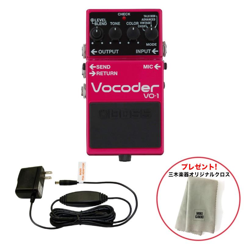 BOSS ボス VO-1 Vocoder 純正アダプターセット 送料無料《特典オリジナルクロス》