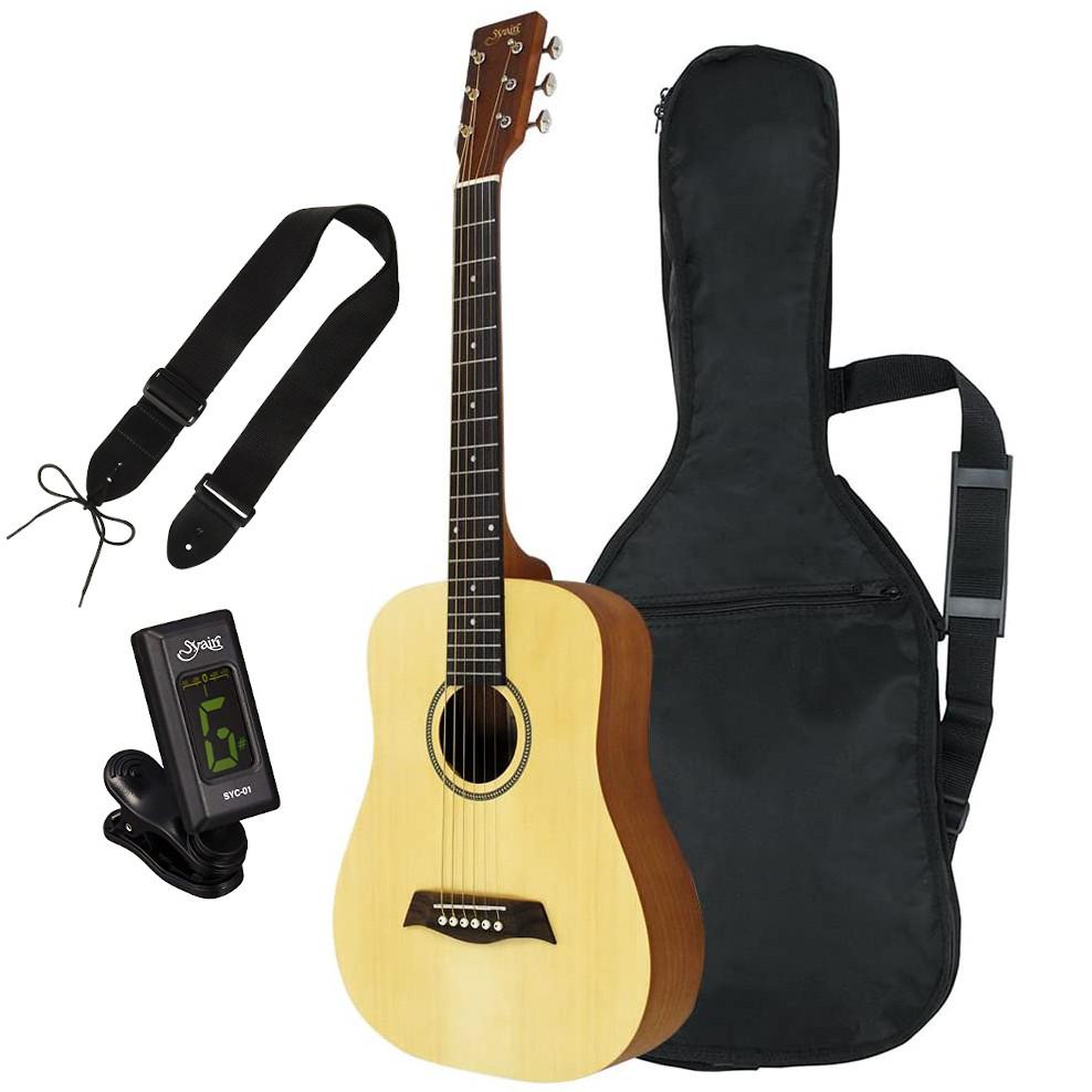 S.Yairiのこだわりを凝縮したミニアコースティックギター S.Yairi ヤイリ YM-02 新作続 NTL ミニアコースティックギター ストラップセット》 ソフトケース付属《チューナー ナチュラル 送料無料 激安 お買い得 キ゛フト