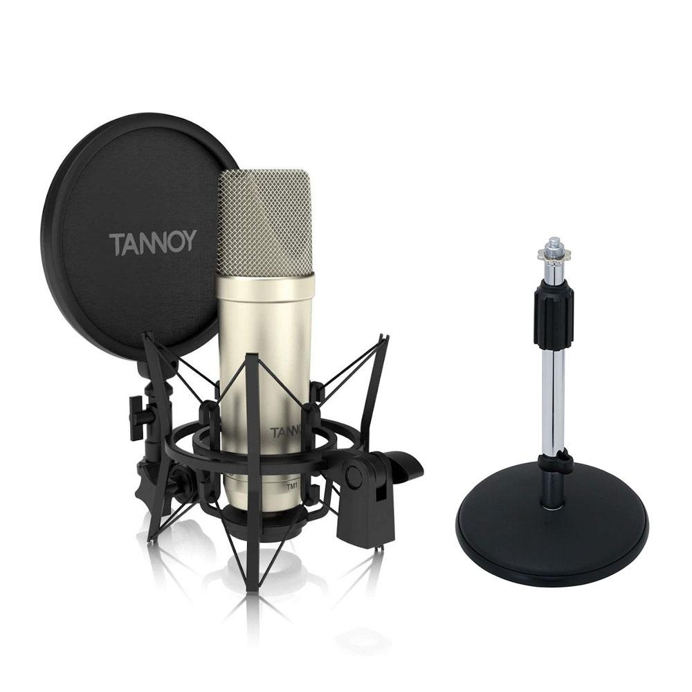 TANNOY タンノイ TM1 コンデンサーマイク 卓上マイクスタンドセット《国内正規品 3年保証》 ポップガード ケーブル セット 送料無料