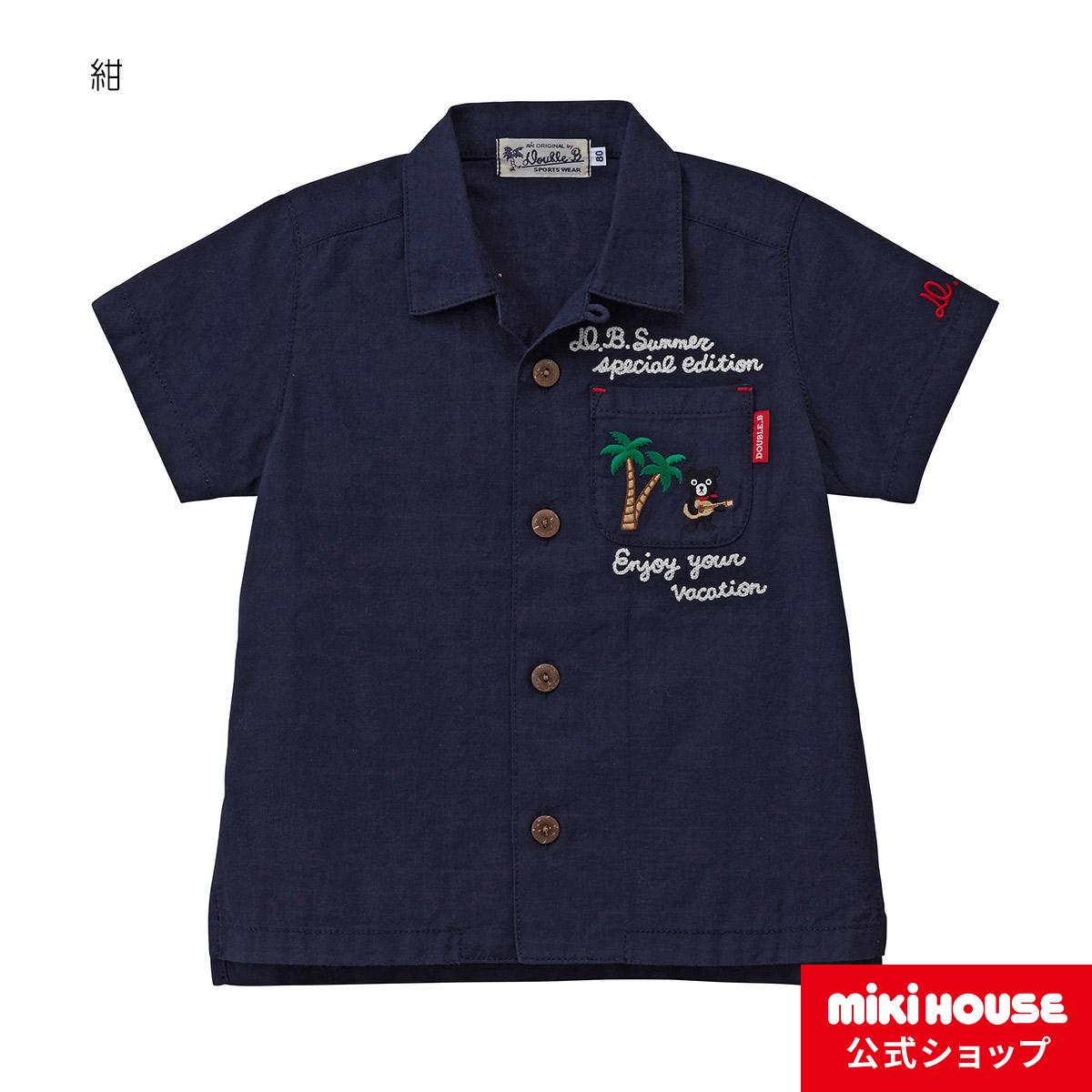 ミキハウス ダブルビー mikihouse シャツ(80cm・90cm・100cm)