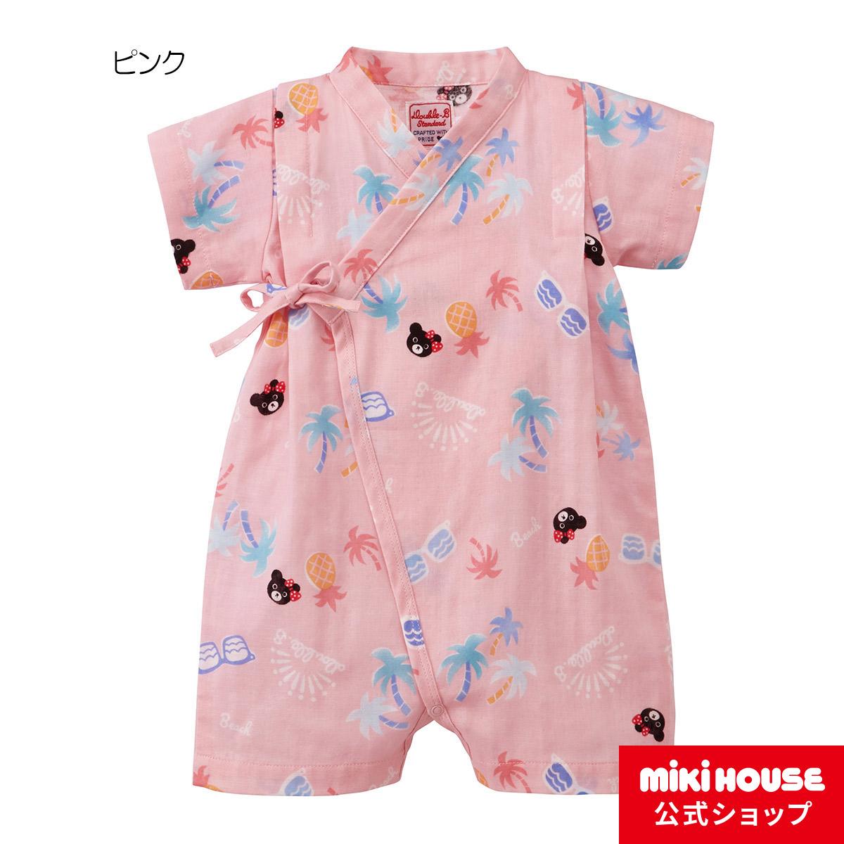 ミキハウス ダブルビー mikihouse 甚平オール〈S-M(60cm-80cm)〉 ベビー用品 ベビー 赤ちゃん 女の子 ピンク