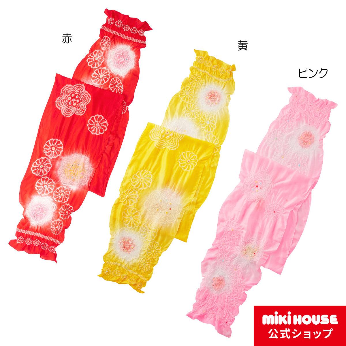 ミキハウス mikihouse お花柄しぼりのへこ帯〈フリー(3.2m)〉