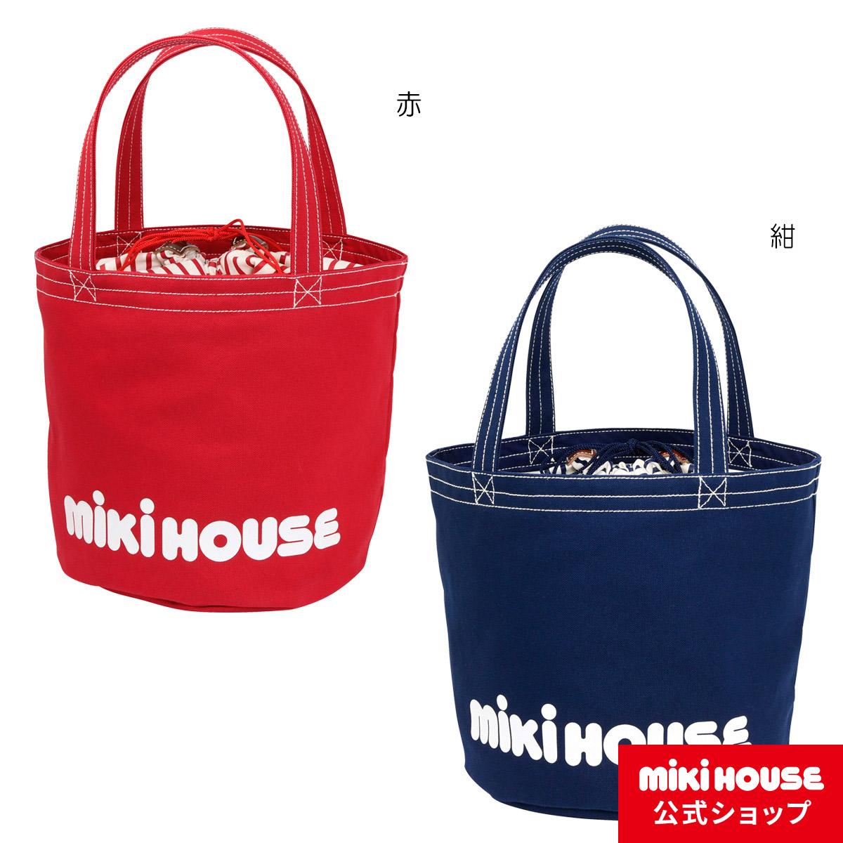 ミキハウス mikihouse バケツ型 ロゴトートバッグ