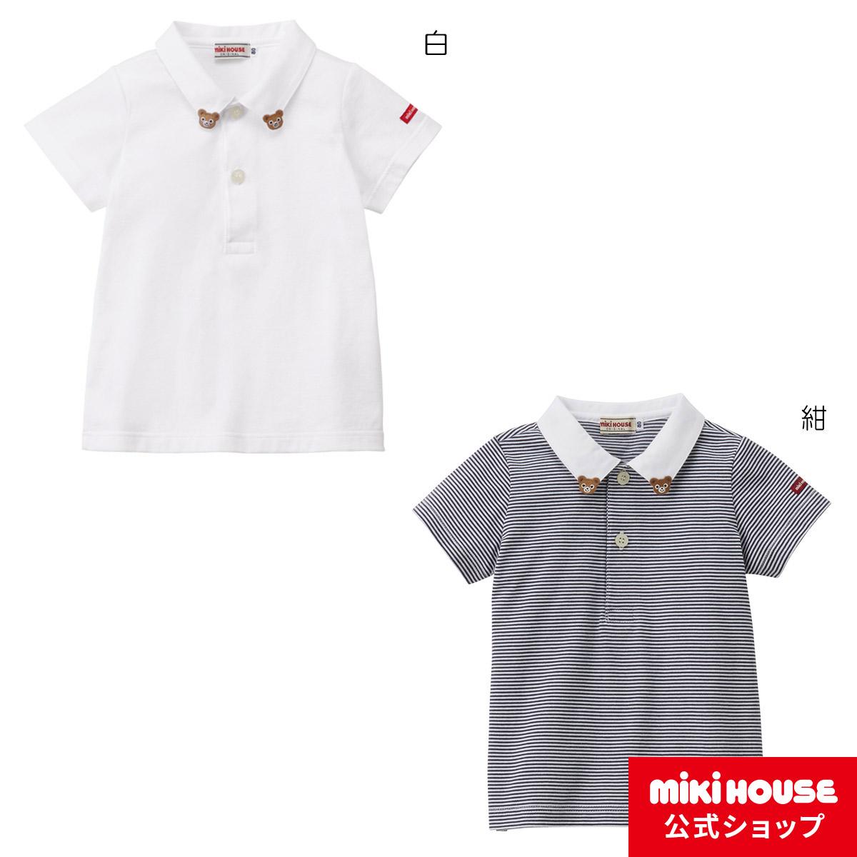 プッチーミニワッペン付き半袖ポロシャツ(70cm~110cm)