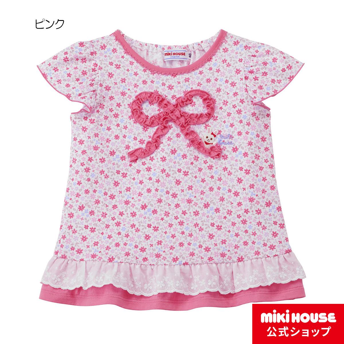 ミキハウス mikihouse うさこ 小花柄半袖Tシャツ(110cm・120cm) 女の子 半そで かわいい こども  子供服