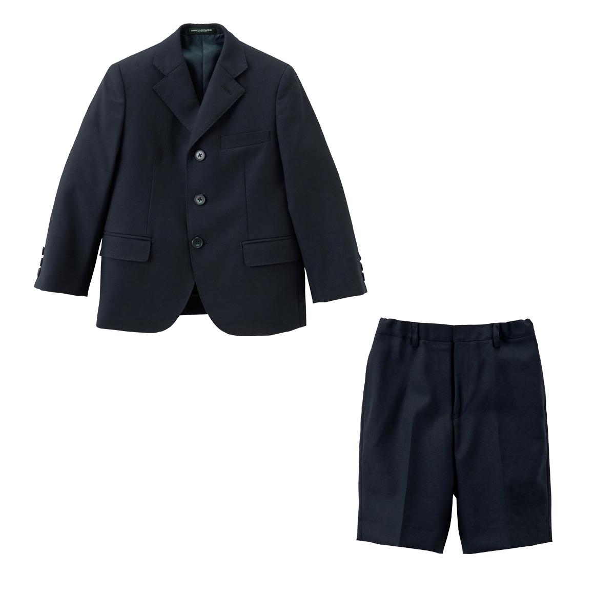 ミキハウス mikihouse 【面接】ウールサキソニー素材のスーツ(120cm・130cm) バーゲン