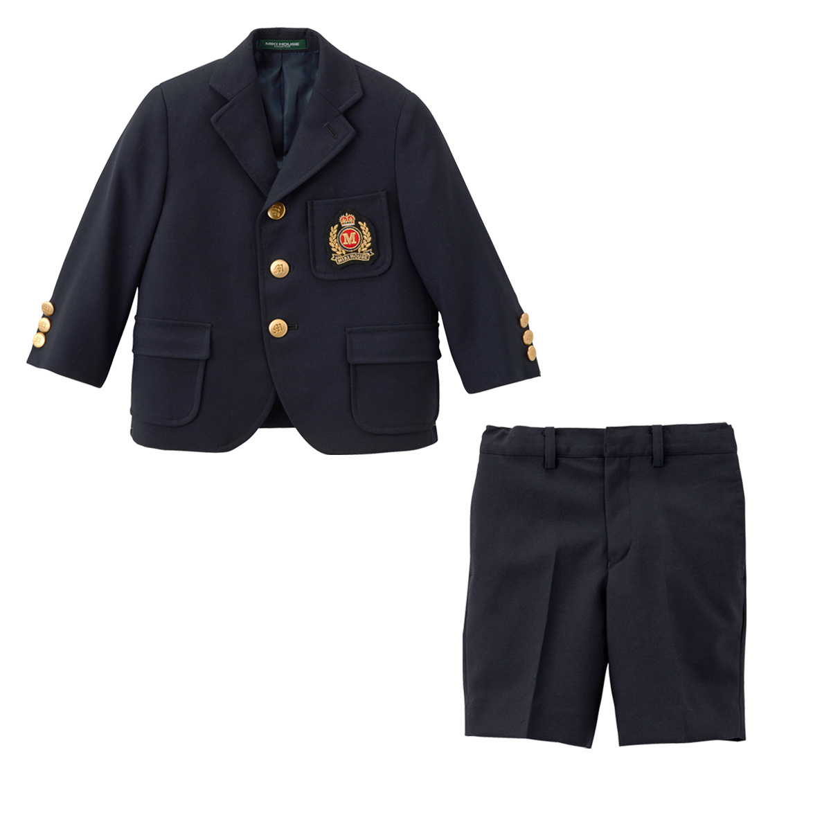ミキハウス mikihouse エンブレムつきスーツ(95cm・100cm・110cm) バーゲン