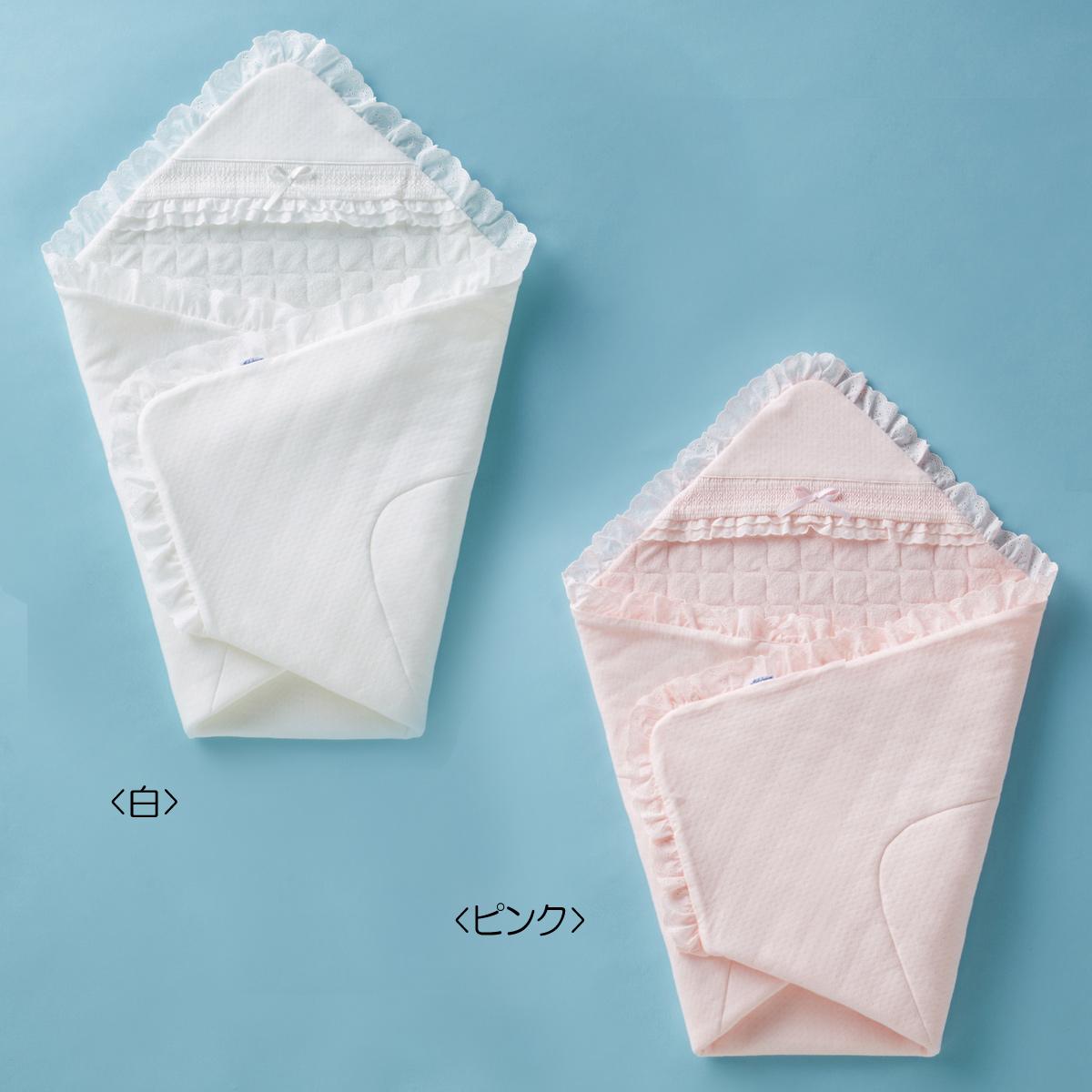 ミキハウス mikihouse 上品なジャカード織りのセレモニーアフガン(おくるみ)