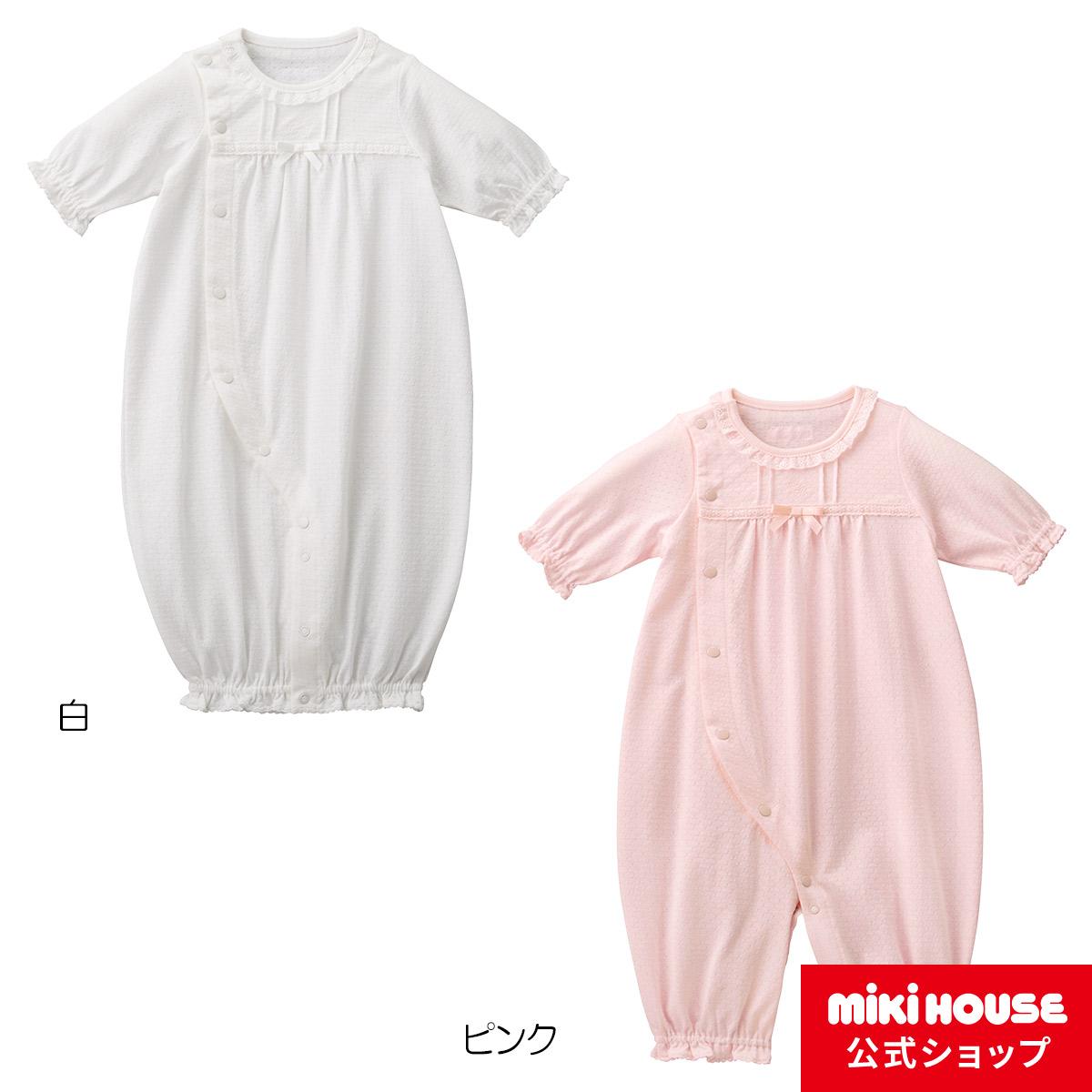 ミキハウス mikihouse 爽やか透かし編みツーウェイミニ(50cm-60cm) ベビー服 子供服 赤ちゃん 女の子 男の子 日本製