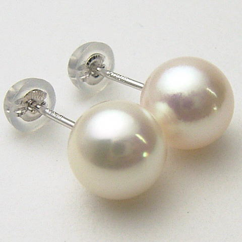 Pt900/K18/K14WG Akoya pearl earrings (SV earrings, charm) ewk-5092 (Oh here or this Pearl Akoya this Pearl Oh Akoya pearl Japanese Pearl this Pearl Pearl Earrings Ise Shima Pearl directly connected with 18 Gold Platinum 900 pierced earrings are OK)