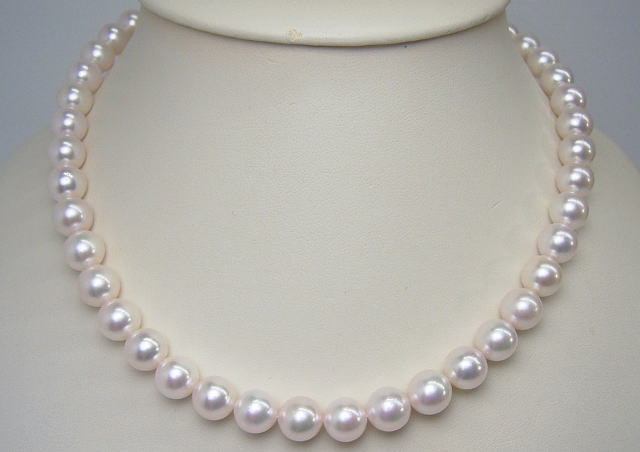 Ball Ako And Real Pearl Oyster Necklace Set K14wg Pierced Earrings Free Shipping Easy