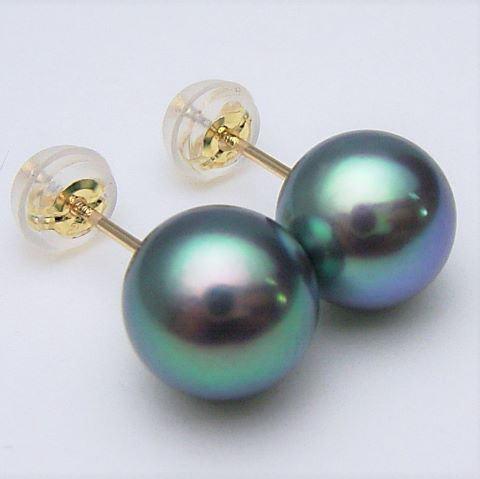 Pt900/K18/K14WGアコヤ真珠ピアス(イヤリング チャーム )(グリーン系)【8mm-8.5mm】ewu-7067【花珠級】【激安】【送料無料】(あこや真珠 和珠 あこや本真珠 パールピアス アコヤ本真珠 本真珠 パール 直結 18金 プラチナ900 ピアス 真珠イヤリングもOK)