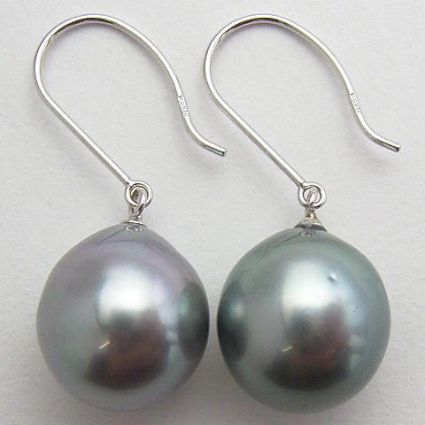 K14wg Tahiti Black Erfly Pearl Earrings 11 Mmup Free Shipping Ekl 5556 This From South Sea Grey