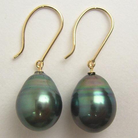 Pierced Earrings Of Improving Had 10 Millimeters Tahiti Black Erfly Pearls Again