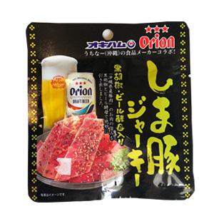 コリコリした歯ごたえ とまらない美味しさ しま豚ジャーキー10g 黒胡椒 メイルオーダー ビール酵母入り ☆最安値に挑戦