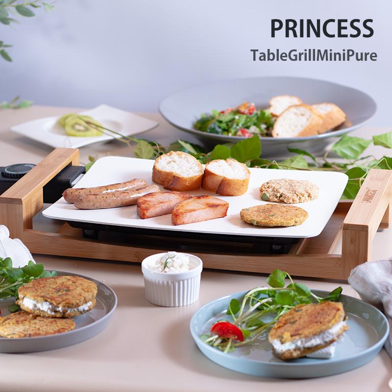 無料ラッピング/レビュー特典/送料無料/【Table Grill Mini Pure】テーブルグリルミニピュア[プリンセス]PRINCESS/スパチュラ×4付/オシャレ/人気/白いホットプレート/プレゼント/母の日/結婚/103035/8713016073013