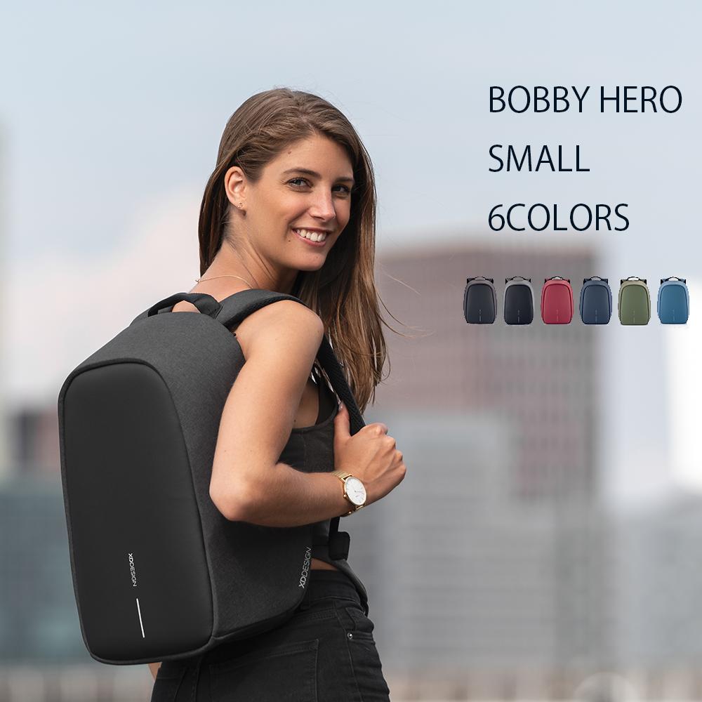 【あす楽】送料無料【BobbyHero small/ボビーヒーロー スモール 11.5L 】[XD Design]オランダ発 盗難防止 防犯 バックパック/防刃/撥水/RFIDスキミング対応/隠しポケット/PC収納/タブレット収納/サングラスホルダー